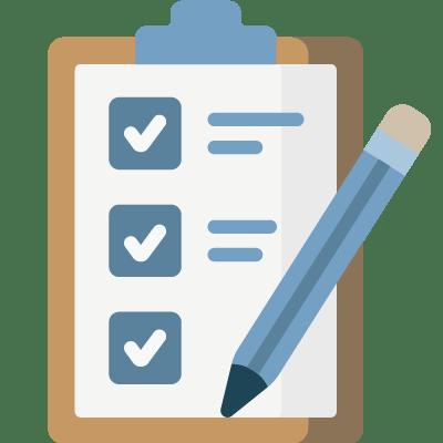 Checklist icon at Llandegfedd