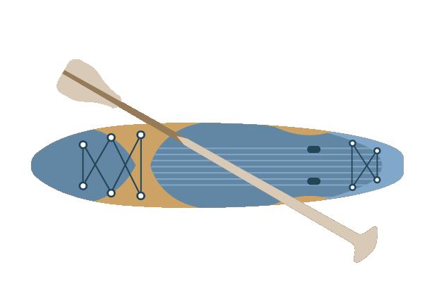 Canoeing icon at Llandegfedd