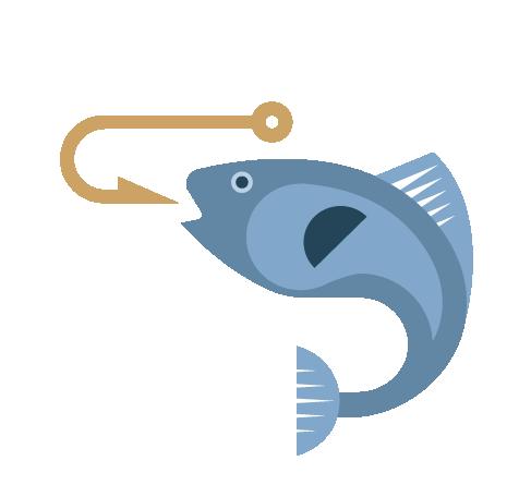Fishing icon at Llandegfedd